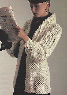 "Ladies Blackeberry Stitch Jacket in Aran yarn Knitting Pattern 34-40""  905"