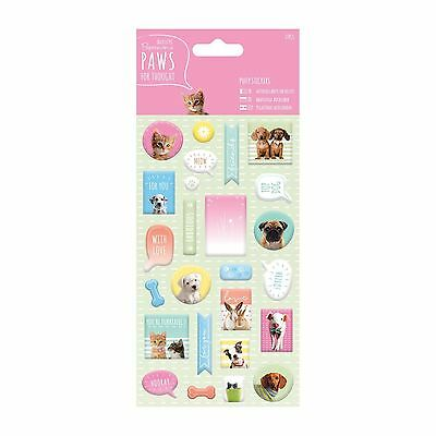 Paws for Thought Papermania Pet Paper Craft Collection - Puffy Stickers (27pcs)