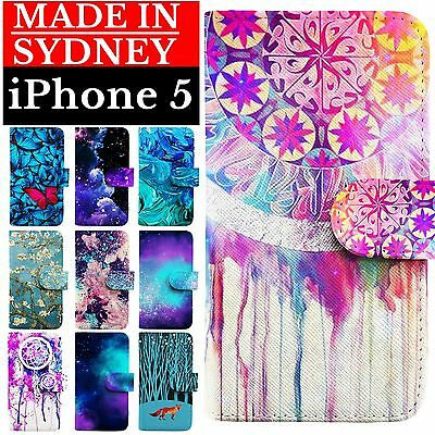 Magnetic Detachable Leather Wallet Case Cover for Apple iPhone 5 5S 5C SE