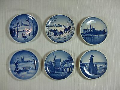 Royal Copenhagen Denmark Mini Plates Set of 4 + 2 Wall Hanging Decorations or ?