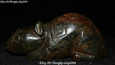 Rare Chinese Hongshan Culture Old Jade Carving Mouse Mice Rat Rats Animal Statue