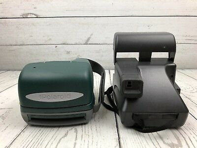 Lot of 4 Polaroid Cameras OneStep Land Camera & Two Packs Type 600 AS IS