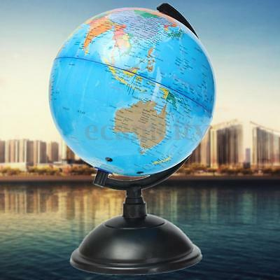 20cm Blue Ocean World Globe Map Geography Table Educational Tools Swivel Stand