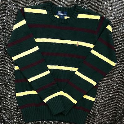 Polo by Ralph Lauren Boys Green Cable Knit Sweater Long Sleeve Size M