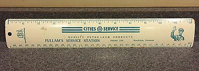 Antique Vintage Cities Service Advertising Ruler Gas Station