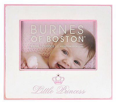 "Burnes Of Boston Pink Little Princess Picture/Photo Frame 8""x7"" Holds 6""x4"" New"
