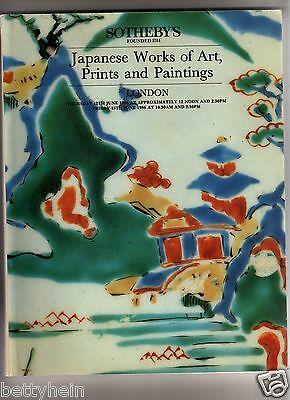 Sotheby's London Japanese Works Of Art, Prints And Paintings -June13, 1986