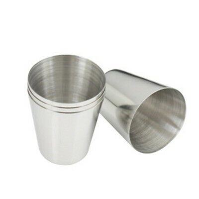 35ml Portable Stainless Steel Shot Glasses Barware Wine Drinking Glass Cup  IO