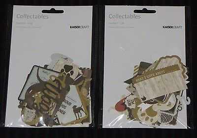 Kaisercraft 'PAWFECT' Collectables Die Cuts (Choose from CAT or DOG) KAISER Pets