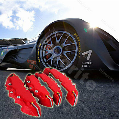 4 Stylish 3D style front and rear universal plate Car brake caliper cover*