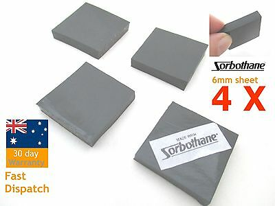 "4pcs Sorbothane Vibration Isolation Pads 6*25*25mm 1/4''* 1""* 1"" Sheet Square"