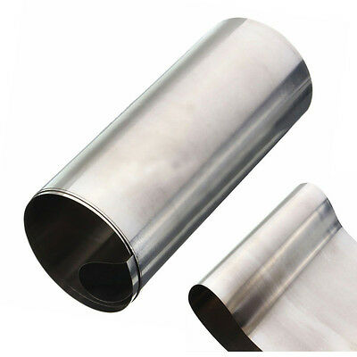 1pc Silver 304 Stainless Steel Fine Plate Sheet Foil Kit 0.1mm*100mm*1000mm