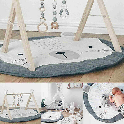 Large Rabbit Playing Crawl Gym Rug Mat Newborn Shower Gift Blanket Baby Kids