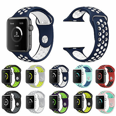 Silikon Ersatz Sport Band Armband für Apple Watch iWatch Nike Band Series 2 /1