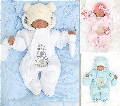 Nursery Time Unisex Baby Snow Suit Winter Suit Jumpsuit Warm Size 50 56 62 68