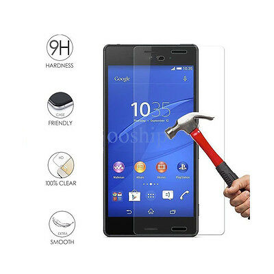 New Premium Tempered Glass Screen Protector Cover For Sony Experia Xperia E4