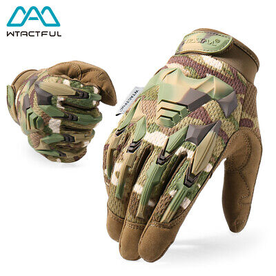 Multicam Tactical Outdoor Airsoft Army Military Shooting Gear Full Finger Gloves
