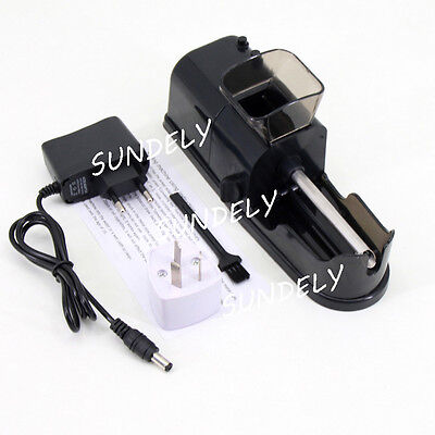 DIY Electric Automatic Cigarette Roll Machine Tobacco Injector Make Roller Black