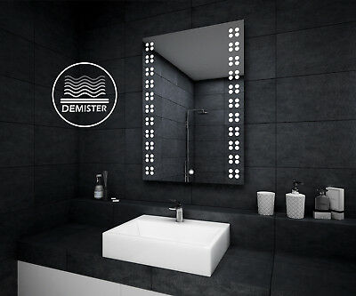 LED ILLUMINATED BATHROOM MIRROR | Demister | Touch Switch | IP44