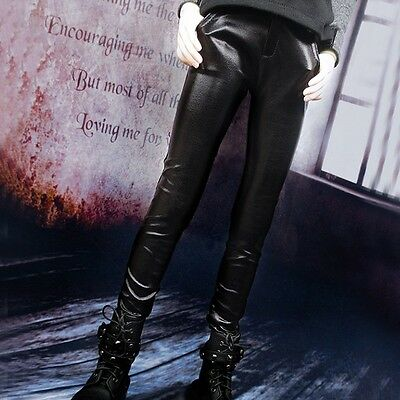 New Fashion 1/3 BJD Doll SD Dollfie DZ DOD LUTS Clothes Cool Black Leather Pants