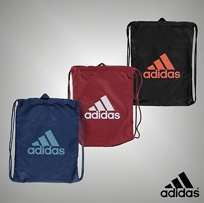Unisex Genuine Adidas Drawstring Performance Logo Gym Sack Bag Accessories
