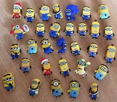 8 X Minion Pvc Shoe Charms, Wristbands