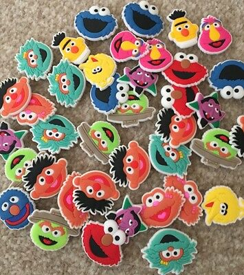 8 X Sesame Street Shoe Charms, Wristbands