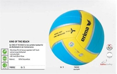 Erima Beachvolleyball King of the Beach 740102 Strand Park Spielball DVV geprüft
