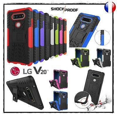 Etui Coque housse Antichocs Shockproof Combo Hybride Hard PC Case cover LG V20