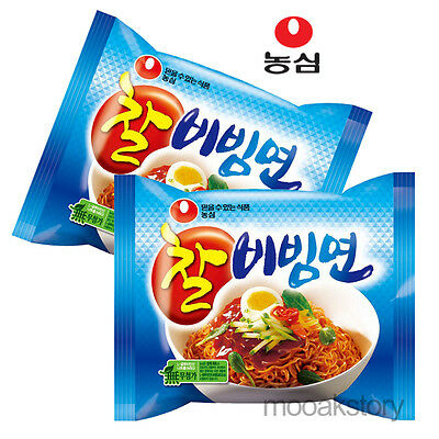 [Nongshim] Chal Bibimmun Sweet Spicy Cold Tasty Korean Food Noodles 130 g × 2