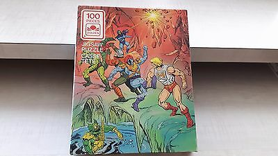 Two (2) He-Man Masters of the Universe Jigsaw Puzzles 1984 Complete