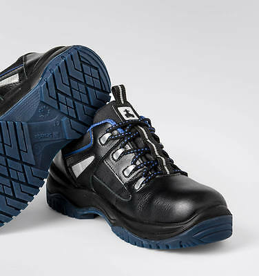 Mens Scandia Safety Shoes Low S3 Src Black Leather Extra Grip New