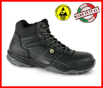 Mens Waterproof Safety Boots SECOR DRUM S3 SRC High LIGHT BLACK LEATHER Size