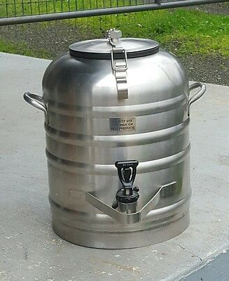 Vintage Tomlinson Spigot Stainless Steel Vacuum Seal 3 Gallon Keg Dispenser Jug