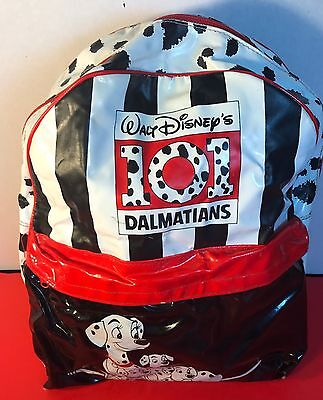 "Vintage Plastic Zoom Disney's 101 Dalmatians Black/white And Red 15"" Back Pack"