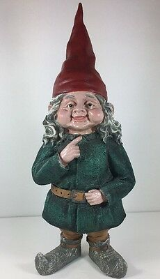 The Gnomes of Toad Hollow ..Zelda The Gnome..14 Inches Tall   Outdoor  Indoor