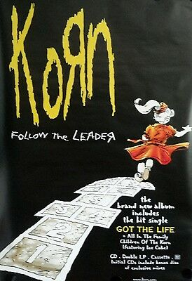 "40x60"" HUGE SUBWAY POSTER~KoЯn Follow the Leader 1998 Korn Original Music NOS~"