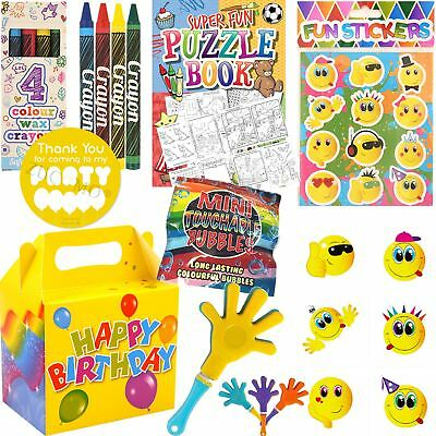 Boys Girls Pre Filled Birthday Party Bags Boxes Activity Packs Kids Childrens