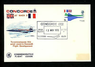 Postal History Great Britain Sc.582 Concord Test First Flight 1970 Fairford Glos
