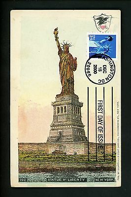 US FDC #3453 Unknown Postcard 2000 Washington DC Statue of Liberty
