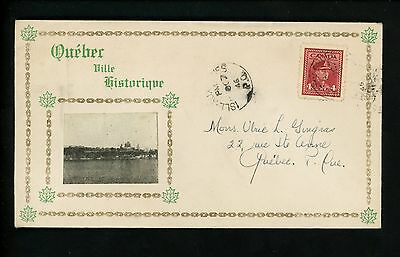Postal History Canada Scott #254 Quebec Pride 1946 Isle-Aux-Coudres Qc to City