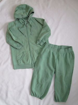 Motherhood Maternity Green Sweatsuit Outfit Hoodie and Pants Lounge Set Small