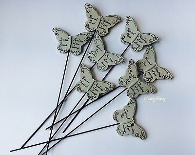 In Loving Memory Butterfly Sentiment Grave Graveside Stone Memorial Stick Stake