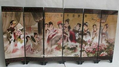 Delicate Chinese household adornment art folding ceramic glass screen