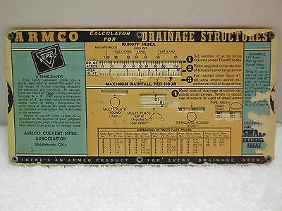 1939 Armco Calculator for Drainage Structures