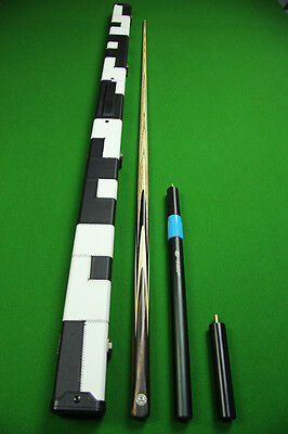 1 Piece Ash Shaft Indian Ebony+Black Ebony Handmade Snooker Cue Set#Iu2
