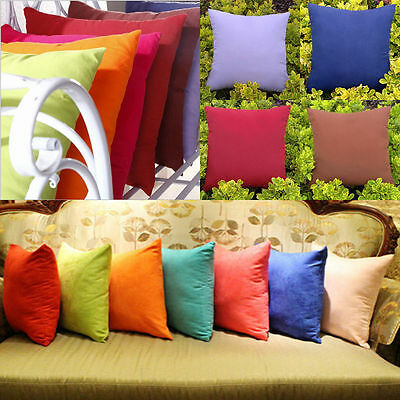 "New Fashion Colors Home Decor Solid Cushion Cover Throw Pillow Skin Case 18""x18"""