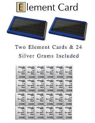 Element Card Case Valcambi Includes 2 Cards And 24 Grams Bars Silver Combibars