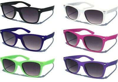 SMALL KIDS SIZE SUNGLASSES Horn Rim DESIGN RETRO Childs Rubber Coated Frame New