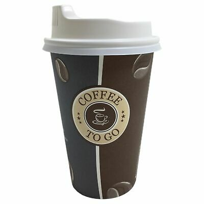 Coffee to go Becher Hartpapierbecher Pappbecher mit Premium Deckel 0,3l